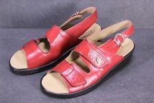 C1425 Comfort Damen Sandalen Leder rot Gr. 39 Wechselfußbett Klettverschluss