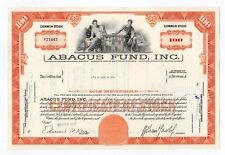 Abacus Fund, Inc. Stock Certificate