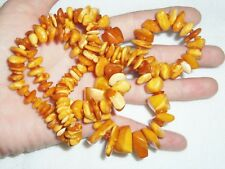 RARE VINTAGE HONEY BUTTERSCOTCH EGG YOLK BALTIC AMBER NECKLACE 49g