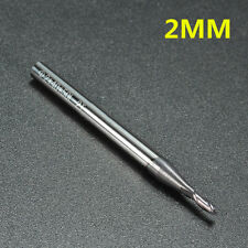 2mm Solid Carbide Tungsten Coating End Mill Slot Drill Milling Cutter - 2 Flute