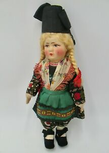 Beautiful Vintage Cloth Bing Doll in German Costume
