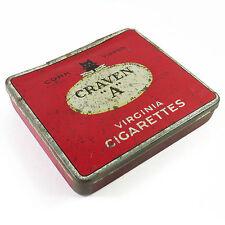 Vintage Cork Tipped Craven A Virginia Cigarettes Tin
