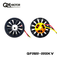 12-Blade 64mm Duct Fan 2200KV Brushless Motor 6S Version for RC EDF Jet AirPlane