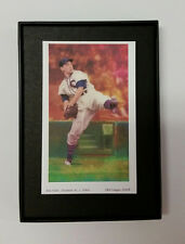 "2""x3.6""  Art Image in Frame - Bob Feller. Cleveland, A.L., c. 1940s HOF player"