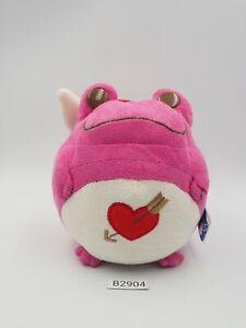 "Keroppi Style Frog B2904 Pink Bandai Banpresto 2004 Plush 4.5"" Toy Doll Japan"