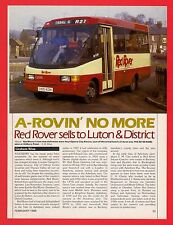Buses Magazine Extract ~ Red Rover of Aylesbury - History & Final Fleet: 1988