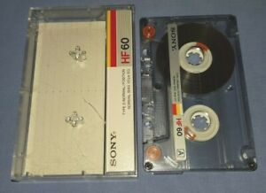 SONY HF 60 USED BLANK cassette tape
