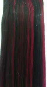 1B/burgundy 100% Human Hair for Weaving track beauty extension styling 12 inch