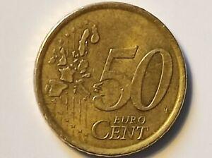 Piéce de 50 cent euro espagne 2000 fautée