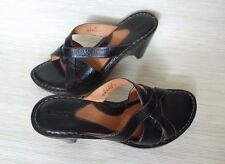 BORN W3023 US 9 40.5 Handcrafted Sandals  Black Pebbled Leather Strappy