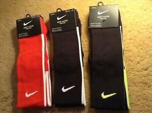 Nike Football or Soccer Vapor Knee High Socks Assorted Colors and Sizes 1 Pr
