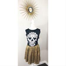Olsenboye Gold Lame Metallic Disco Skirt Juniors Sz 7