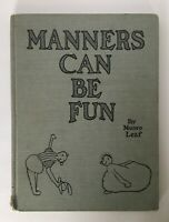 Manners Can Be Fun By Munro Leaf 1936 World War II  Era Hardcover Book