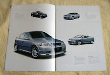Vauxhall Accessorys Summer 2002, all models inc Corsa, Astra, Vectra, Omega