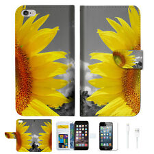 Sunflower Wallet  Case Cover For Apple iPhone 6 6S -- A012