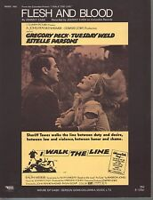 Flesh and Blood 1969 Gregory Peck Tuesday Weld in I Walk The Line Sheet Music