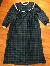 The Wooden Soldier Vintage Night Gown Granny Style Prairie Womens Size M 👗#c5