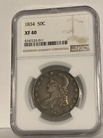 1834 Capped Bust Half Dollar XF40 NGC