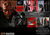 1/6 HOT TOYS DX17 STAR WARS EP I THE PHANTOM MENACE DARTH MAUL WITH SITH SPEEDER