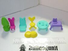 2013 Lot 7 Disney Mickey Mouse Clubhouse Chair Table Dog Bowl Figure Toy Parts