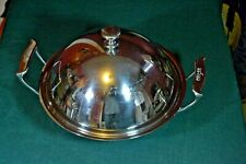 All-Clad 10 in. Wok Pan w Dome Lid; 3-ply alum in stainless steel EXC