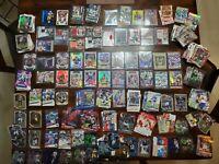 NFL Football ROOKIES + VET PARALLEL CARDS LOT  (450 CARDS) 12 Memorabilia /Relic