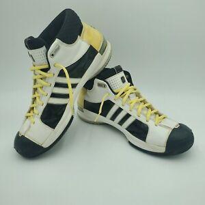 Adidas Mens Team Signature 2008 Pro Model White Yellow Shoes Size US 10 UK 9.5