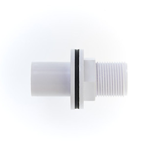 MaKe PRO077 Overflow Tank Connector, White, 22mm