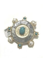 CHICO'S ISABELLA TURQUOISE PIN/BROOCH-NEW WITH TAG