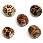 100 Mixed Painted Drum Wood Spacer Beads 17x16mm T3V5