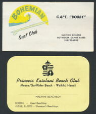 1960s Hawaii BOHEMIAN SURF CLUB Princess Kaiulani Beach Club MOANA SURFRIDER
