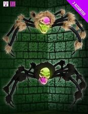 Large New Light Up Colour Changing Skull Spider Halloween Horror Prop Decoration