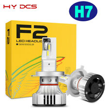 2Pcs H7 CREE Chip LED Headlight Bulbs Kit 72W 12000LM High Low Beam Power 6500K