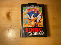 Sonic the Hedgehog (Sega Genesis, 1991) CIB With SEGA  Poster, Ships Free