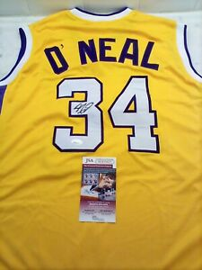 LAKERS SHAQUILLE O'NEAL SIGNED SHAQ DIESEL GOLD JERSEY JSA WITNESSED COA