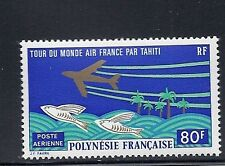 FRENCH POLYNESIA 1973 AIR FRANCE WORLD TOUR Scott C96 VF MNH