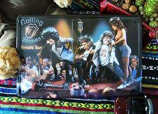 Rolling Stones Geriatric Tour Metal Tin Sign British Rock & Rock Band Deco GB ad