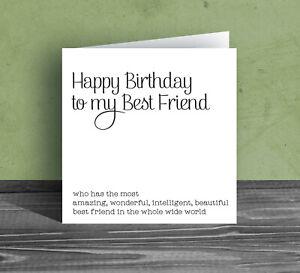 FUNNY BIRTHDAY CARD for best friend bestie BFF humour rude joke mate silly Z27