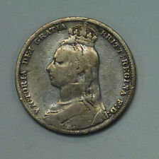 {BJSTAMPS}  1889 Great Britain 1 Shilling Victoria .925 Silver .1682 ASW