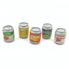 Dollhouse Mixed Flavor Beverage 5Pcs Set Drink Cans 1:6 Miniature Model Decor