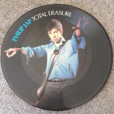 """7""""  PICTURE DISC  PHILIP JAP TOTAL ERASURE 1982."""
