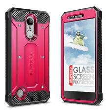 For LG Aristo: Evocel Full Body Case with Glass Screen Protector & Belt Holster