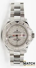 Rolex Yacht-Master 16622 40mm Stainless Steel Platinum Bezel Box & Papers