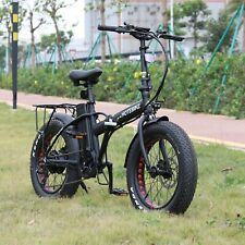 "20"" Folding EBike 48V 750W Electric Bike High Power Lithium-Ion Battery HOTEBIKE"