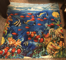 Shower Curtain Ocean Clown Tang Fish Coral Reef 70x64 with Hooks