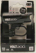 CATEYE VOLT 200 USB RECHARGEABLE LED FRONT CYCLE BIKE LIGHT