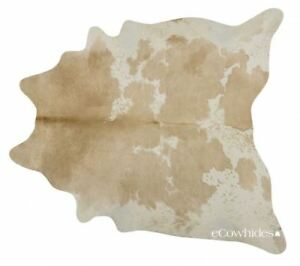 Palomino & White Brazilian Cowhide Rug Cow Hide Area Rugs Leather Size XXL