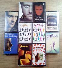 10 x Phil Collins & Genesis Cassette Tape Music Joblot Bundle