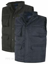 Uneek Super Pro Body Warmer Water Repellent Gilet Jacket Robust Workwear (UC640)