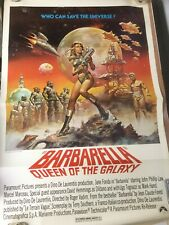 BARBARELLA Original One-Sheet Movie Poster Jane Fonda Boris Vallejo Roger Vadim